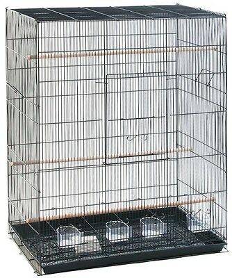 Bird Cage Large Canary Birds Finch Perches Budgie House Removable Tray Food