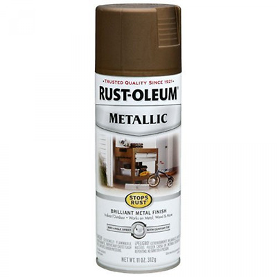 Antique BRASS Metallic Paint Spray for Metal Wood and More Rust Oleum 7274830