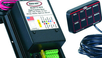 NEW Sho-Me 8-Function Undercover Siren with Mini-Controller