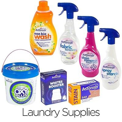 Laundry Stain Remover, Detergent, Starch Whitener or Fabric Refresh for Clothes