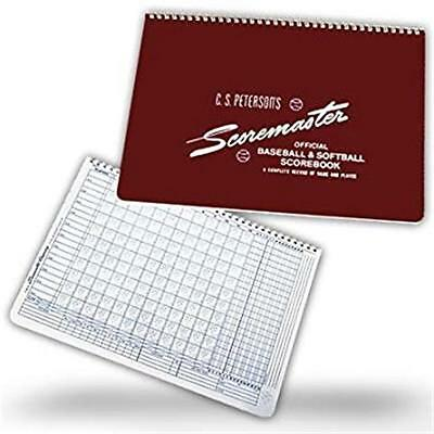 Petersons 191400 25 Game Baseball & Softball Scorebook