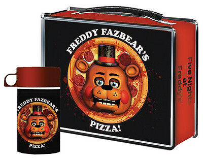 Five Nights at Freddys Pizza Lunchbox with Drink Container Thermos Lunch Box
