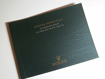 English  ♛  Authentic ROLEX  ♛ 2013 Submariner Watch Manuals & Guides Booklet