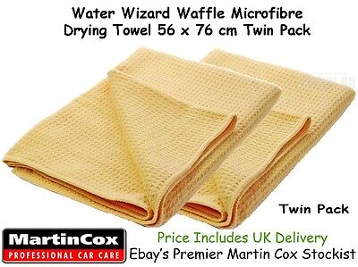 Martin Cox Water Wizard Magnet Large Microfibre Car Wash Drying Towel Cloth x 2