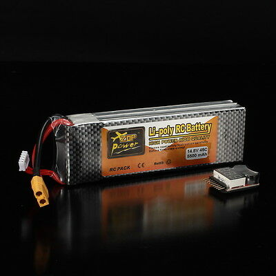 ZOP Power 14.8V 5500mAh 4S 45C Lipo Battery XT60 Plug With One Remote Battery Mo