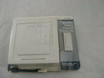 85 dB Wireless Battery Operated Door Bell Kit with 1-Push Button, White L5047~