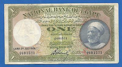 Egypt 1 Pound1926 Hornsby Very Rare See Scan