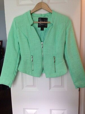 Women's Cropped Blazer Color Mint Size Small