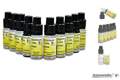 Probier-Set´s, E-Liquid Premium 10 x 10ml Flaschen, 0/3/6/11mg eliquid eshisha
