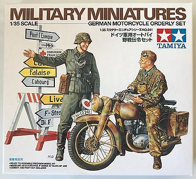 TAMIYA 35241 German Motorcycle Orderly Set 1/35 Model Kit NIB