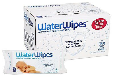 WaterWipes Sensitive Baby Wipes, 9 packs of 60 Count (540)     FREE SHIPPING !!!