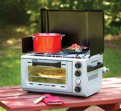 Coleman 1800W Two Burner Gas Camping Stove Outdoor Cooking Equipment BBQ Family