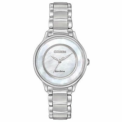 Citizen Eco-Drive Women's EM0380-81D Circle of Time Mother of Pearl Dial Watch