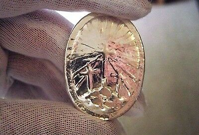 Calvary - 2 Troy Ounce .999 Fine Silver Round  - Hand Poured - Hand Stamped