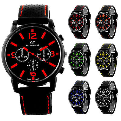 Sports Wrist Watch Mens Boys F1 GT Touring Racing with Silicon Strap Cheap Price