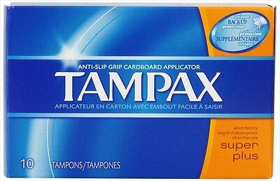4 x Tampax Super Plus Tampons Flushable Cardboard Applicator 10ct - 40ct TOTAL -