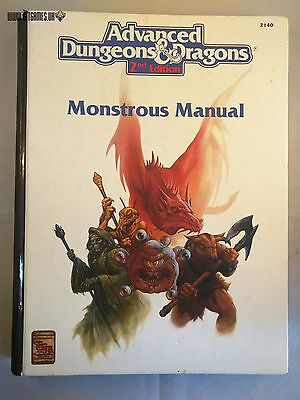 AD&D MONSTROUS MANUAL Advanced Dungeons & Dragons TSR 2140