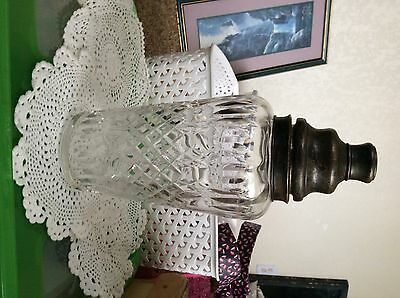 Hawks' sterling silver cut glass decanter