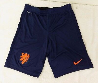 Nike Netherlands Holland Soccer Team Navy Blue Color Kid's Shorts Size Youth S