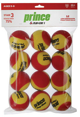 **new** 12 Pack Prince Stage 3 Qst 36 Red Foam Training Ball 8 & Under