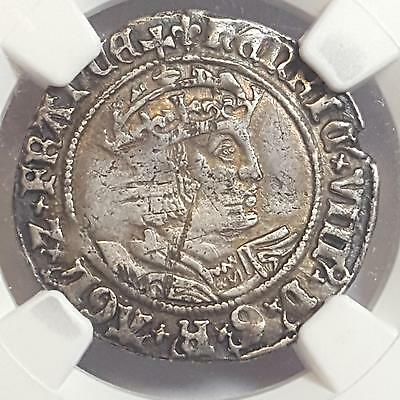 Great Britain 1526-44 HENRY VIII 4 Pence Groat S-2337E VF Details NGC SCARCE