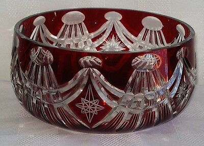 Antique Ruby Crystal Bowl