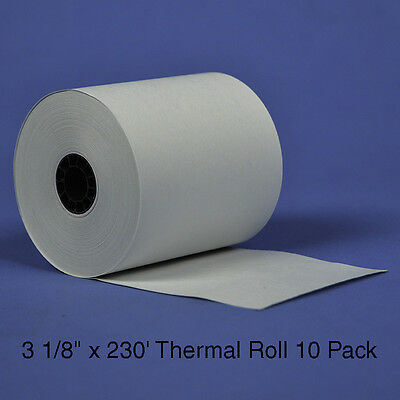 "3 1/8"" x 230' Thermal Receipt Roll Paper, 10 rolls/pack"