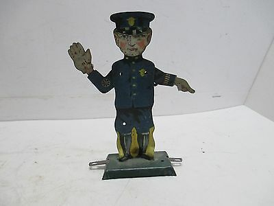 Traffic Cop Made All Tin Excellent Condition Arms Move
