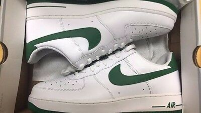 info for 602e5 2b717 Nike Air Force One XXV  07 WHITE GREEN Mens Sneakers 315092-131 Sz