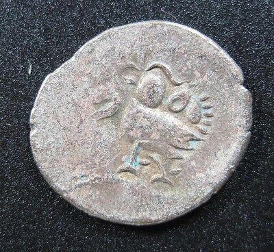 Cambodia Kingdom 1/8 Tical 1847 Silver High Grade #f Hamza Bird Fuang Money Coin
