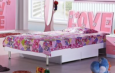NEW single size Princess Bed Girl Pink Bed