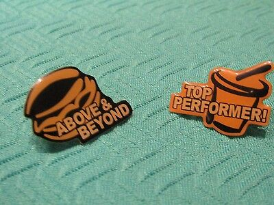 New McDonald's (Above and Beyond/ Top Performer ) Lapel Pins *FREE S+H!