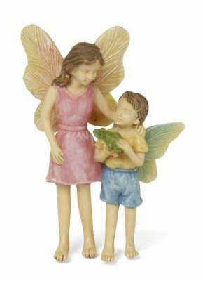 """3"""" My Fairy Gardens Mini Fairies Figure Pick - """"Look What I Found"""" Holding Frog"""