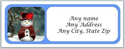 30 Personalized Address Labels Christmas Buy 3 get 1 free (ac 163)