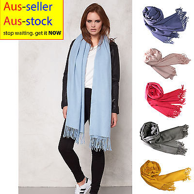 Ultra Soft Full Body Length Long Winter Scarf Warming Plain Colour Womens Wrap