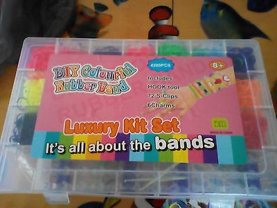 loom bands set 4200 pieces DIY KIT Luxury Rubber Looms Kit Colourful