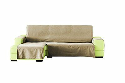 Lona Liso chaise longue 290 cm. sinistra vista frontale - col. 01-beige (T7S)