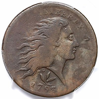 1793 S-9 R-2 PCGS VG 10 Vine and Bars Wreath Large Cent Coin 1c