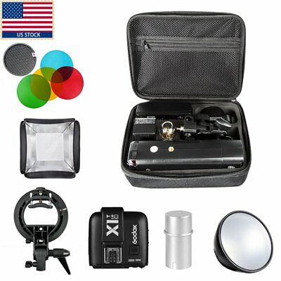 Godox AD200 TTL HSS Pocket Flash +X1T-C Trigger & Softbox & Bracket & Filter Kit