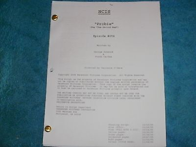 Ncis Tv Script - Probie - Mark Harmon - Michael Weatherly - David Mccallum