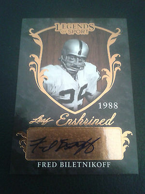 2015 Leaf Legends of Sport Fred Biletnikoff EA-FB1 Auto