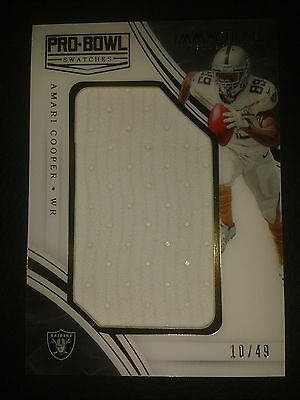2016 Panini Immaculate ProBowl Swatches Amari Cooper 10/49 Jersey Material