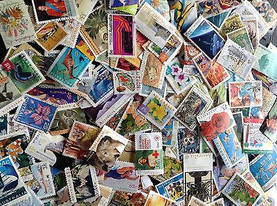 200 Australian Stamps Used All Different Bulk Collection Off Paper