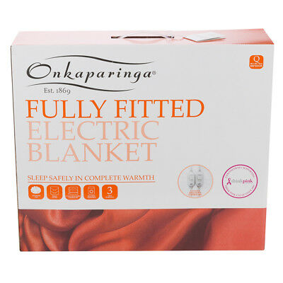 NEW Onkaparinga Fully Fitted Queen Size Electric Blanket