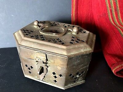Old Turkish Brass Hammam / Turkish Bath Soap Box …beautiful collection item