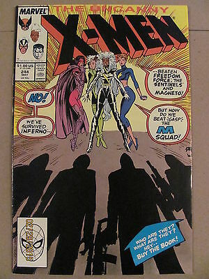 Uncanny X-Men #244 Marvel Comics 1963 Series 1st app Jubilee