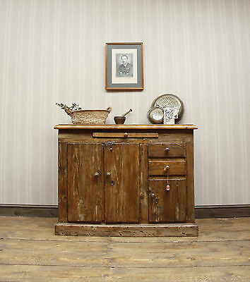 Antique Pine Sideboard, Victorian Kitchen Sideboard, Upcycled Piece