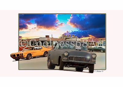 A4 size Two-Lane Blacktop Original 3D Style Art Print