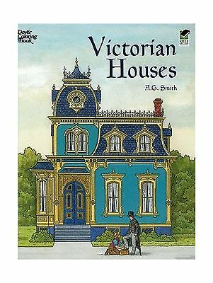 Victorian Houses Dover History Coloring Book Free Shipping