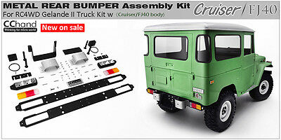 1/10 Gelande II Truck Cruiser Metal Rear Bumper Assembly Kit